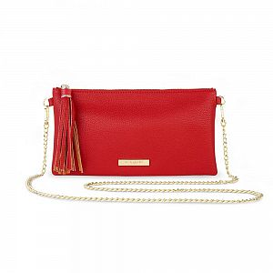 Katie Loxton Freya Tassel Bag - Red