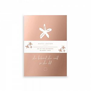 Katie Loxton Small Duo Pack Notebooks - She believed she could so she did