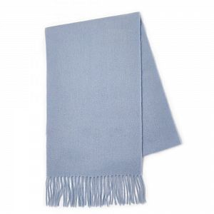 Kiltane Lambswool Scarf - Pale Blue Plain