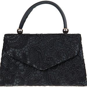 Lace Handle Bag - Black