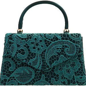 Lace Handle Bag - Teal