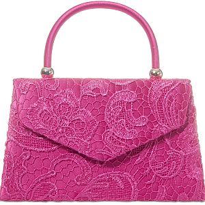 Lace Handle Bag - Fuchsia