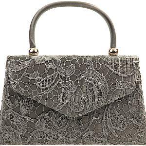 Lace Handle Bag - Grey