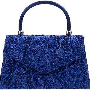 Lace Handle Bag - Royal Blue