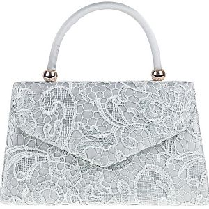 Lace Handle Bag - Silver