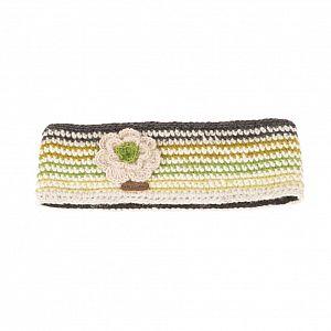 KuSan Fleece Lined Headband with Flower - Green