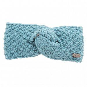 KuSan Fleeced Lined Moss Yarn Headband - Aqua