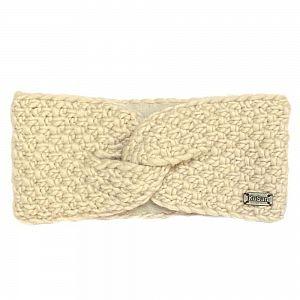 KuSan Fleeced Lined Moss Yarn Headband - Oatmeal