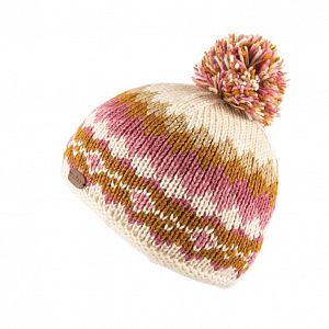 KuSan Fleece Lined Unisex Bobble Hat - Caramel