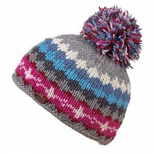 KuSan Fleece Lined Unisex Bobble Hat - Grey/Blue