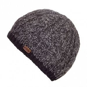 KuSan Luxury Cable Knit Unisex Fleece Lined Beanie - Navy