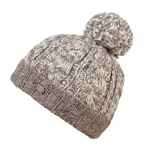 KuSan Fleece Lined Unisex Bobble Hat - Oatmeal