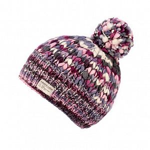 KuSan Fleece Lined Unisex Bobble Hat - Pink/Purple