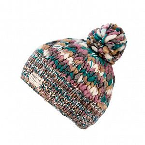 KuSan Fleece Lined Unisex Bobble Hat - Teal/Mauve