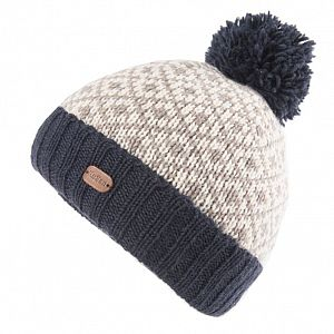 KuSan Fleece Lined Unisex Bobble Hat - Navy