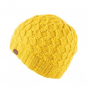 KuSan Fleece Lined Unisex Beanie Hat - Yellow