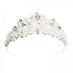 Tall Crystal & Diamante Tiara