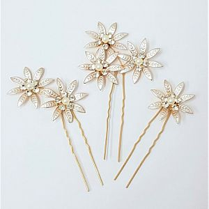 Champagne Hair Pins - Set of 3