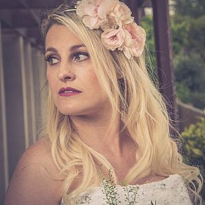 Floral Bridal Side Headband