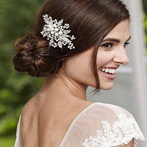 Pearl & Leaf Vintage Bridal Comb
