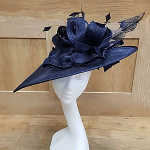 Large Navy Wedding Hat / Hatinator