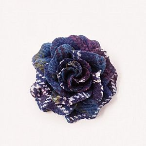 Bonnie Tweed Rose Corsage - Jewel Check