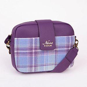Ness Skye Tweed Cross Body Bag - Heather