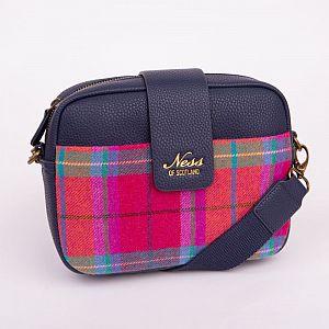 Ness Skye Tweed Cross Body Bag - Melrose