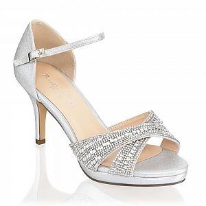 Haven Silver Diamante Occasion Sandals