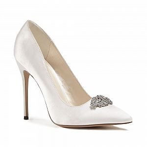 Alandra High Stiletto Jewelled Court Shoes / Bridal Shoes - Ivory
