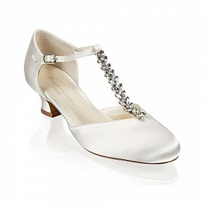 Alva Ivory Satin Wedding Shoes