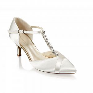 Anika Ivory Satin Bridal Shoes / Dyeable Shoes