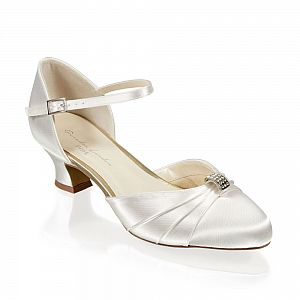 Avalyn Ivory Satin Wide Fit Bridal Shoes / Dyeable Shoes
