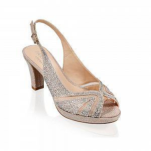 Linda Champagne Glitter Sling Back Sandal