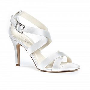 Macpherson High Heel Strappy Sandals / Bridal Shoes - Ivory