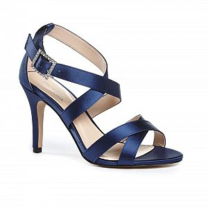 Macpherson High Heel Strappy Sandals - Navy