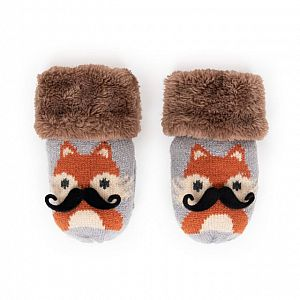 Cosy Kids Fox Mittens - Age 2-6 Years