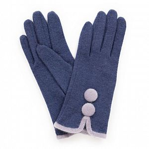 Powder Christabel Navy Wool Gloves