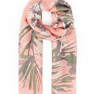 Winter Finches Print Scarf - Candy