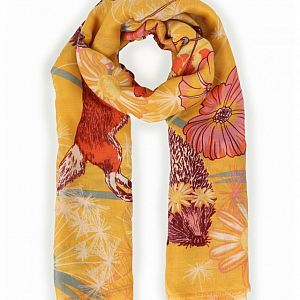 Powder Festival Friends Print Scarf - Mustard