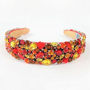 Designer Jewelled Headband - Fire