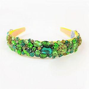 Designer Jewelled Headband - Jade