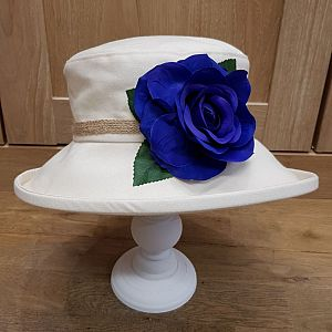 Proppa Toppa Cotton Floral Hat - Royal Blue
