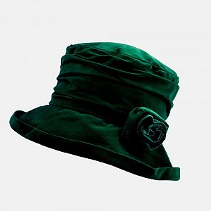 Proppa Toppa Waterproof Velour Packable Hat - Forest Green