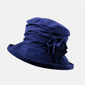 Proppa Toppa Waterproof Velour Packable Hat - Navy