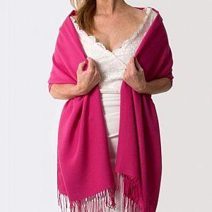 Super Soft Italian Pashmina - Hot Pink Fuchsia