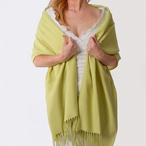 Super Soft Italian Pashmina - Lime Green