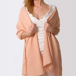 Super Soft Italian Pashmina - Peach Pink