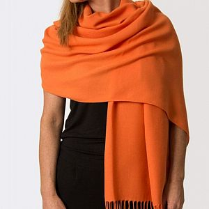 Super Soft Classic Italian Orange Pashmina