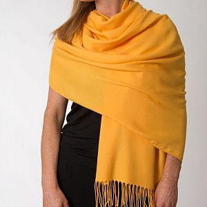 Super Soft Classic Italian Amber Yellow Pashmina